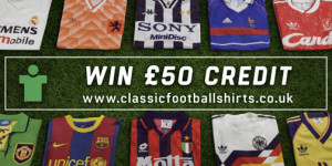 Competition – Win a £50 voucher from Classic Football Shirts