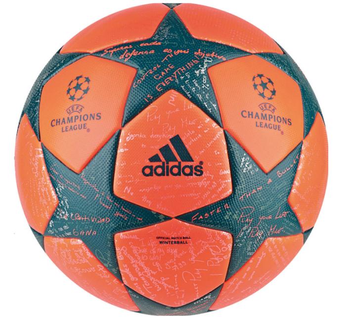 Champions League ball 2016 orange