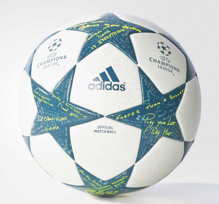 Champions League ball 2016 white